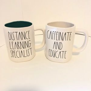 Two New Rae Dunn teacher mug set